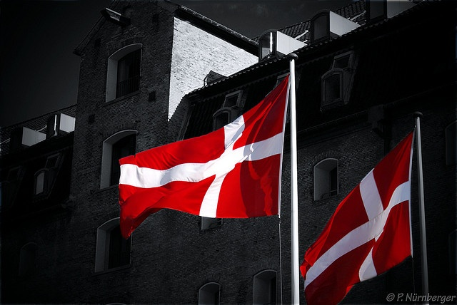 Danish Flag is seen EVERY WHERE in Danmark. Outside AND inside.