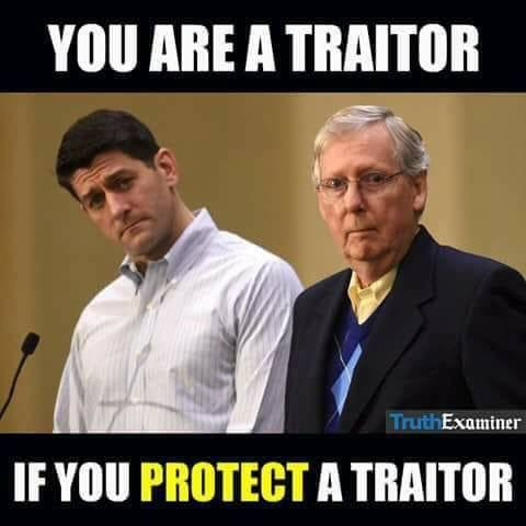 You are a traitor if you protect a traitor. Mike Pence is missing from this picture.