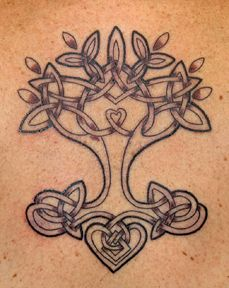 Celtic Tree - Tattoo and design by Tanya Magdalena (original art based on client concept)