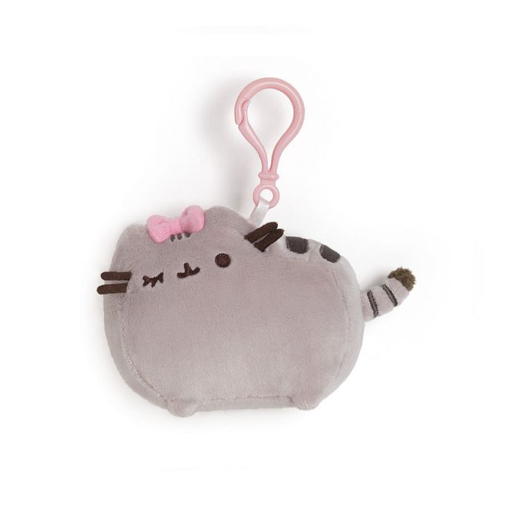 """Pusheen backpack clip bow 4.5"""" # 4048879 Gund AVAILABLE NOW #GUND"""