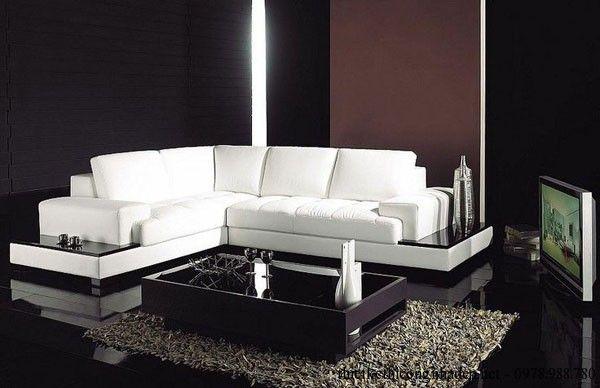 Ghế sofa phòng khách màu trắng