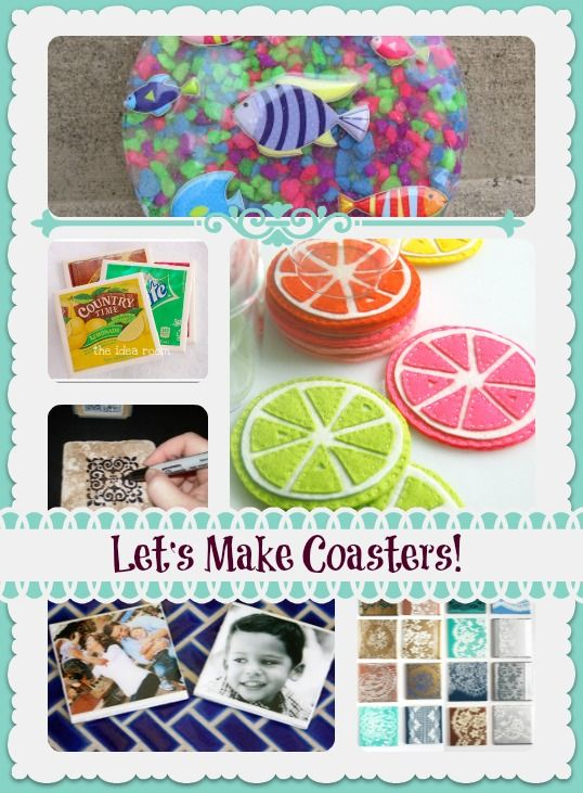 how to make your own coasters 12 different diy coasters easy peasy