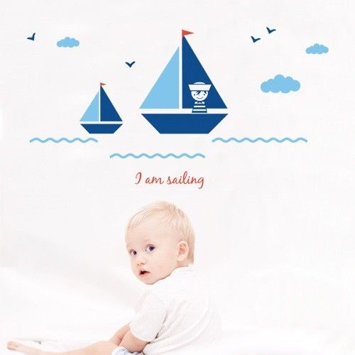 Kids Wall Decal Sailing. Create a beautiful and relaxing atmosphere in your kids room with this magnificent sailing wall stickers set, $59.95 http://www.coolwallart.com/kids-wall-decal-sailing.html