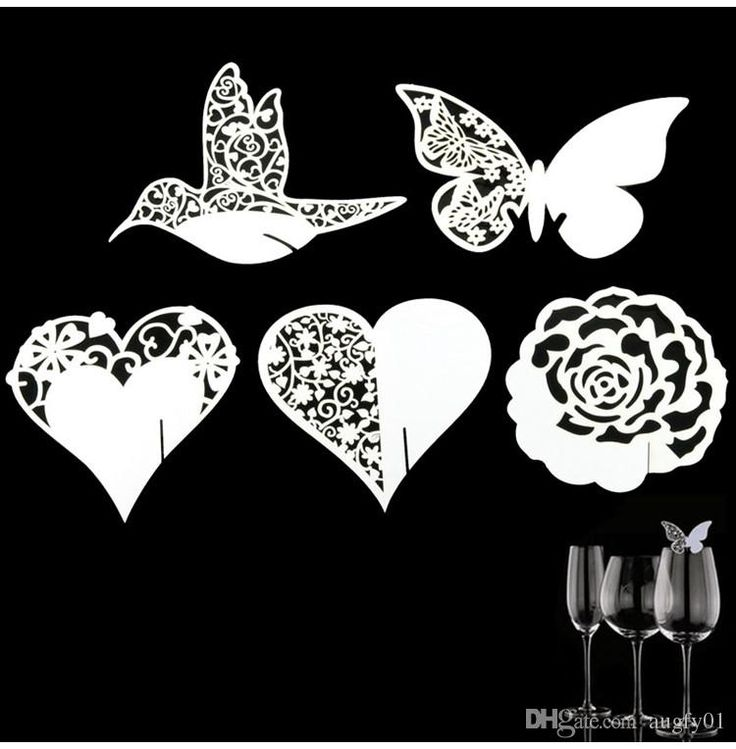 Place Name Card Heart Glass Wedding Cards Party Festive Event Table Goblet Decoration Birthday Supplies Decorative Crafts Online with $2.87/Piece on Augfy01's Store | DHgate.com