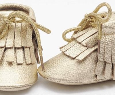 #Gold_Baby_Booties