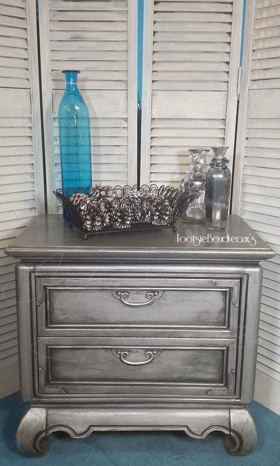 Custom Painted Night Stand Side End Table by TootsieBoudreaux, $139.00