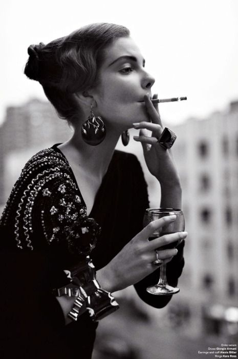 v: Cigarette, Fashion, Faena Sebastian, Style, Smoking, Art, Photo, Smoke, Black