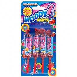 Melody Pops are a unique candy as they have the ability to play real music. They work just like a whistle and are lots of fun!