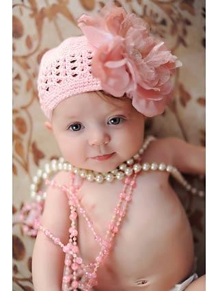 Daniella Dusty Rose Flower Crochet Hat