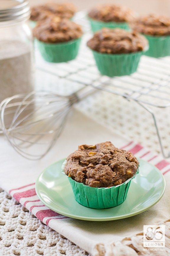 Banana-Apple Buckwheat Muffins (vegan, gf)