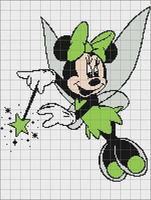 Fairy Minnie Afghan Blanket Crochet Pattern