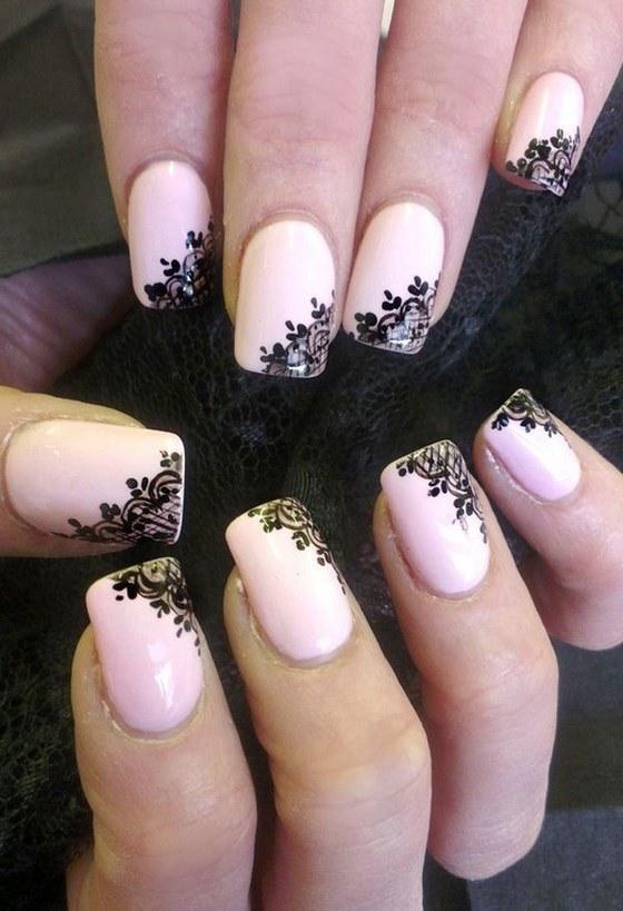 diseños de uñas estampadas