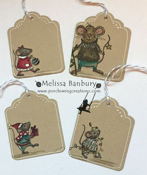 Porch Swing Creations: Merry Mice Tags Blog Candy!