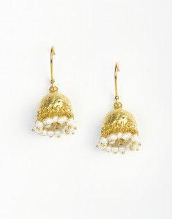 Silver Anusuya ES 1035 Jhumka Earrings