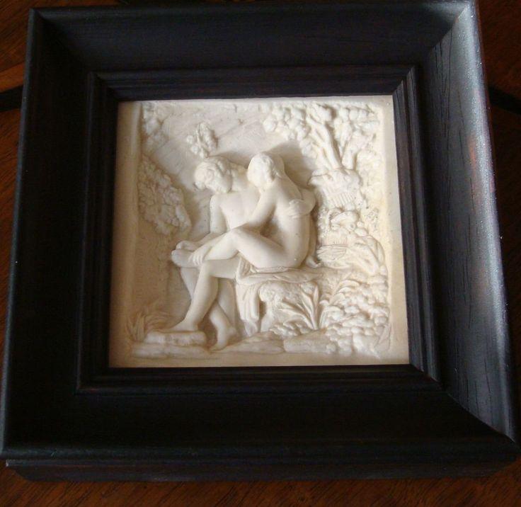 Relief Porzellanbild Klassizismus Biskuit Mythologie Lokros Dornauszieher Bild