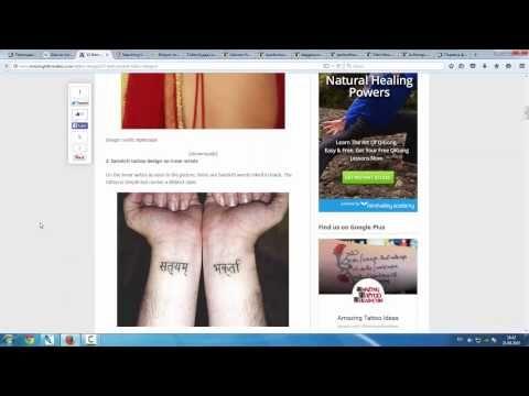 В видео описывается, как не сделать ошибку при поиске фразы для татуировки на санскрите.