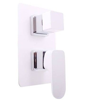 Vodovodní baterie sprchová vestavěná YU186CB s přepínačem - CHROM/BÍLÁ | Koupelny SEN