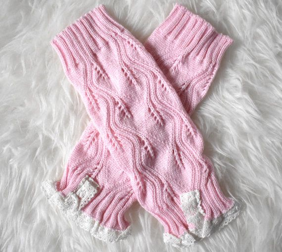 Pink Knit Baby Leg Warmers leg warmers by RascalsRhinestones