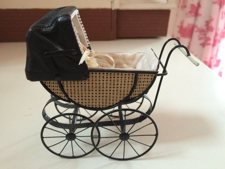 12 scale miniature pram with baby | eBay