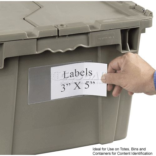 Bins, Totes & Containers | Containers-Shipping | SHIPPING CONTAINER - 3 X 5 LABEL HOLDER, Price of 25/PKG | 334189 - GlobalIndustrial.com
