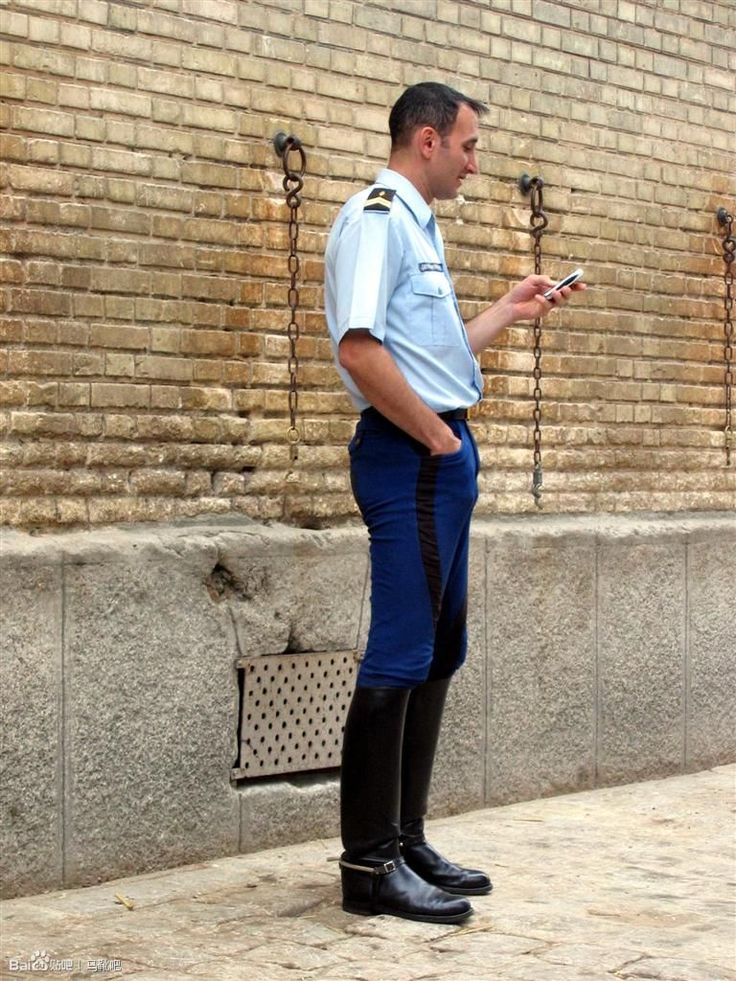 French Cop Men In Boots Boots Pants Fashion