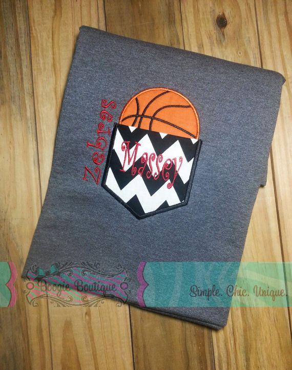 Basketball+Mom+Chevron+Pocket+Tee+by+BoogieBoutique+on+Etsy,+$27.00