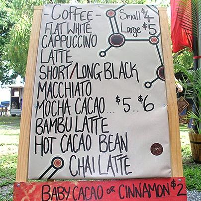 Kahveh - mobile Espresso coffee at the Port Douglas Market    http://www.facebook.com/portdouglasmarket