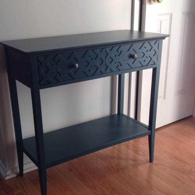 Threshold Fretwork Console Table in Teal