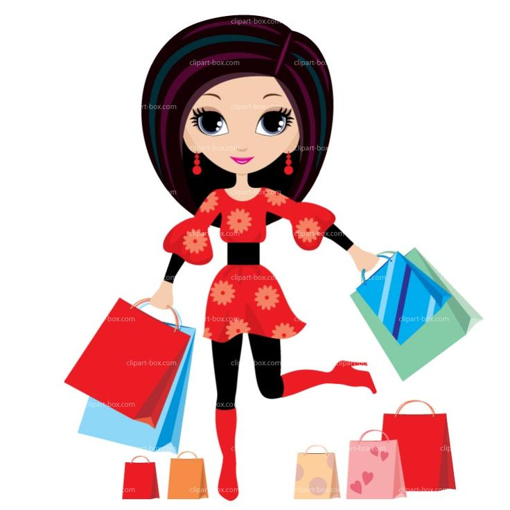 shopping girl clip art clipart shopping girl royalty