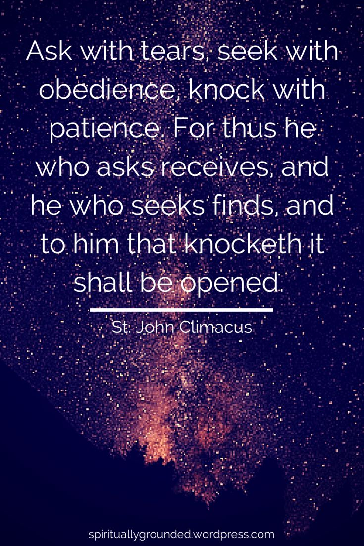 85-Ask, Seek, Knock-John-Climacus
