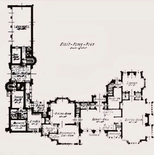 Arthur Letts Mansion Now The Playboy Mansion 1st Floor