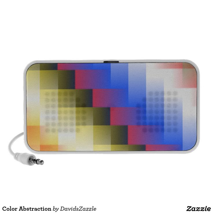 Color Abstraction USB Speaker  This design is available on many more products! Type the name of this design in the search bar on my Zazzle products page to see them all!  #art #abstract #geometric #color #square #line #blur #motion #digital #red #blue #yellow #black #white #green #orange #geometry #abstraction #nonobjective #print #all #over #buy #sale #forsale #zazzle #phone #tablet #case #sleeve #electronic #accessory #usb #speaker