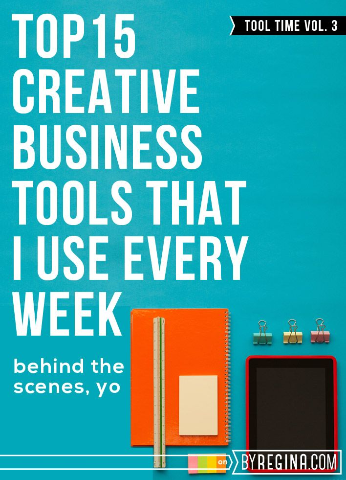 There are 15 creative business tools that Regina uses daily. Many of these tools are free and I hope you can benefit from them.