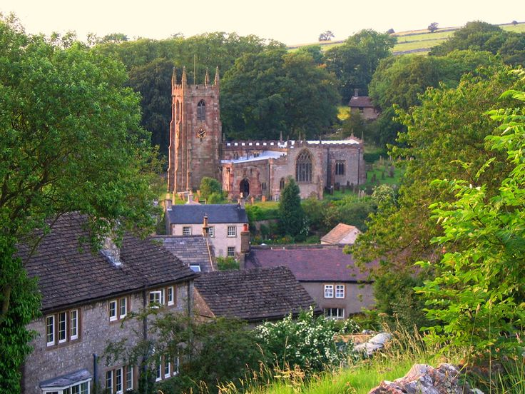 The Village of Hartington, Derbyshire on a Summer Evening