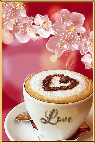 Coffee Love coffee animated autumn leaves fall gif leaf coffee cup good morning coffee time