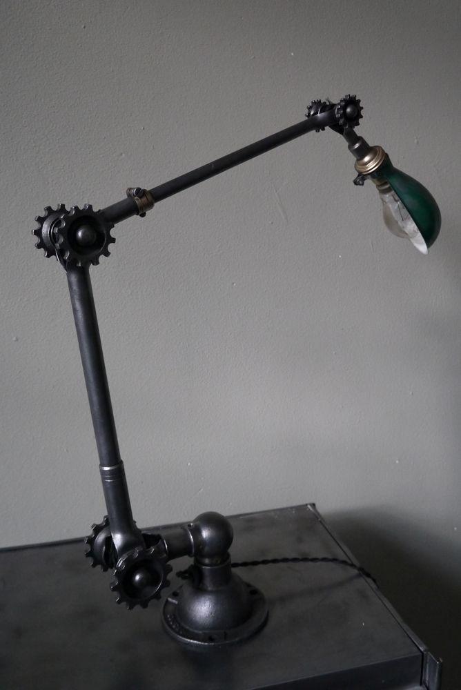 Ancienne lampe applique industrielle DUGDILL designer John Dugdill (1907)