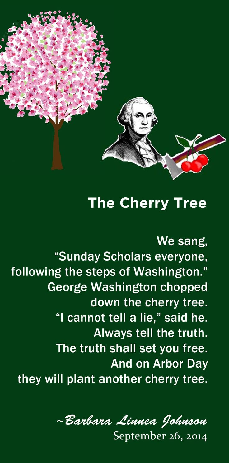 Worksheet Chopped Down Cherry Tree 1000 images about george washington on pinterest the cherry tree an original poem by barbara l johnson featuring washington