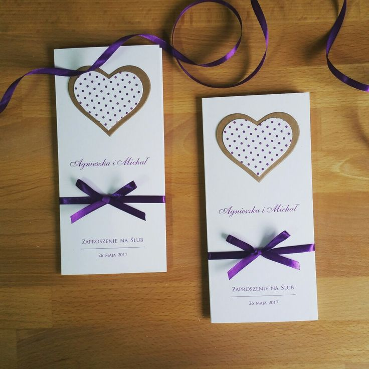 wedding invitations with heart, Eco style