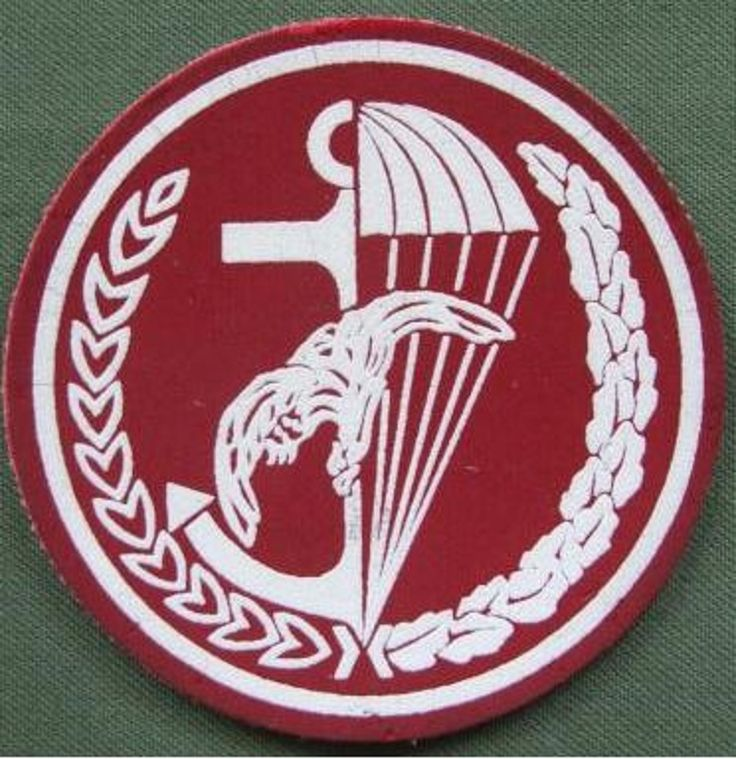 """Poland Army Post 1990 7th Naval Infantry Brigade """"Recce Team"""" Airborne Patch  the patch is embossed rubber and is in near mint condition"""