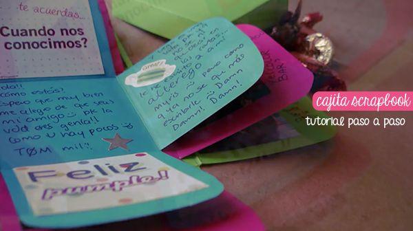 Cajita Scrapbook: regalo fácil paso a paso   [ Exploding box Tutorial ]