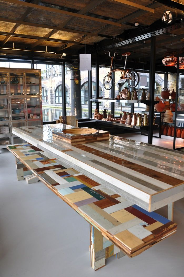 Perfect contemporary yet fun store interior of Tom Dixon, UK.