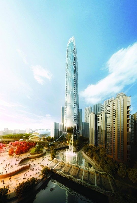 Guiyang-China | Guizhou Culture Plaza Tower, 521 m | proposed 2010 |  Skidmore, Owings & Merrill LLP
