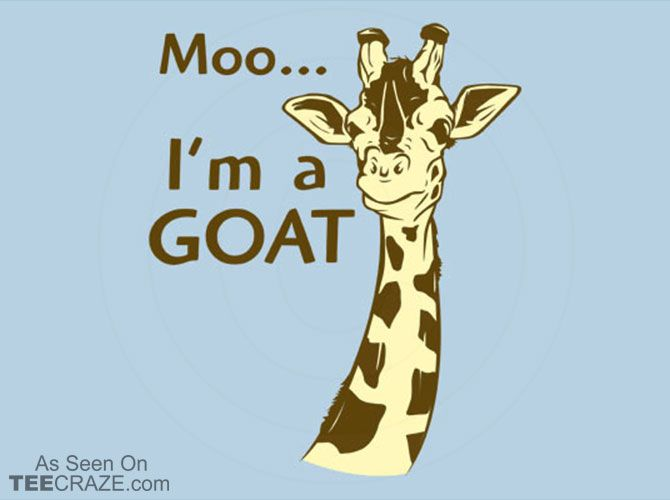 Moo, I'm A Goat T-Shirt - https://teecraze.com/moo-im-a-goat-t-shirt/ -  Designed by Snorg Tees   You May Also Like                          Droogs T-Shirt                                       Lonely Wolf T-Shirt