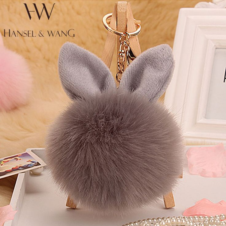 Fur Pom Pom Keychain Fluffy Bunny Rabbit Fur Keychain for Women Bag Charm Rabbit Ears Key Chain Car Key Ring chaveiro Keychains <3 This is an AliExpress Affiliate Pin. Haciendo click sobre la VISITA botón le llevará a encontrar productos similares