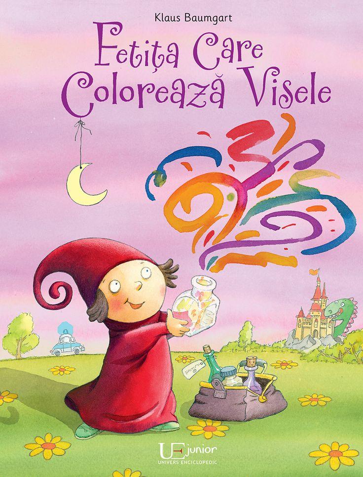 Fetita care coloreaza visele - Klaus Bumgart: Varsta: 2+; Mini, fetița care colorează visele, și-a petrecut întreaga zi căutând ingredientele potrivite pentru visul lui Victor.  Când vrea să-i adauge visului puțin din albastrul miezului de noapte, ea se încurcă și face o alegere greșită! Visul frumos se transformă într-un coșmar și pornește vijelios pe fereastră, îndreptându-se spre camera băiatului. Oare va reuși să-l prindă înainte ca acesta să ajungă la Victor? O poveste de noapte bună.