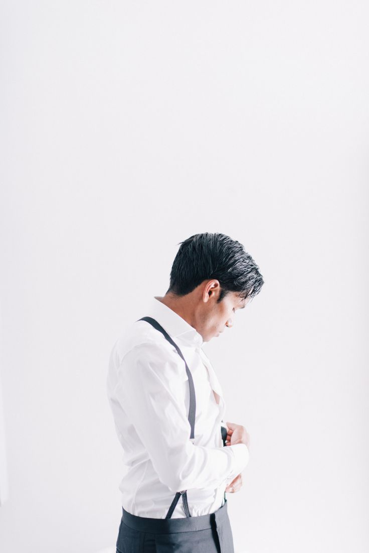 Photography: Ben Yew Photography + Film - http://benyew.com   Read More on SMP: http://www.stylemepretty.com/2017/03/15/santorini-modern-minimalist-wedding/
