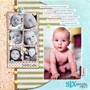 Baby book layout ideas