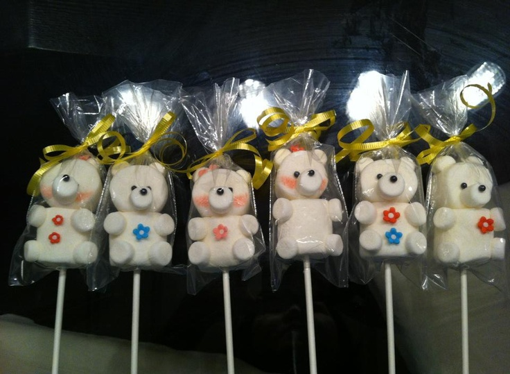 Marshmallow lollipops! Creation from my sister-in-law.