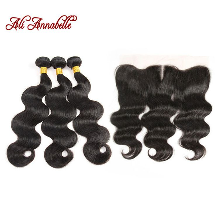 Peruvian Virgin Hair Body Wave With Frontal Closure 3 Bundles Human Hair With Frontal Closure 13X4 Lace Frontal With Bundles