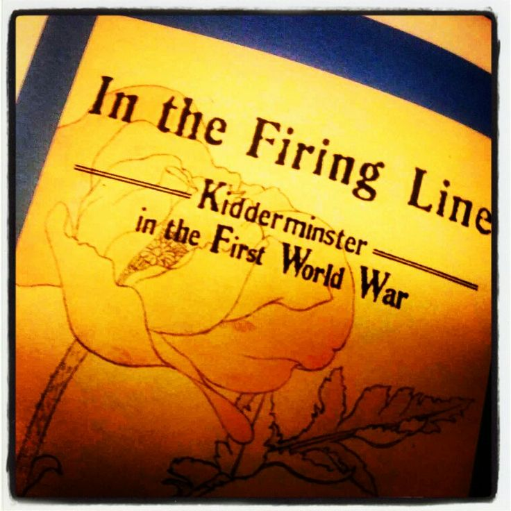 New exhibition, In the Firing Line, Kidderminster in the First World War, November 2014.